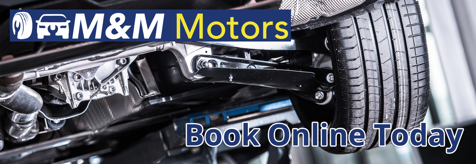 Book online with M & M Motors Ltd - MOT, Tyres, Diagnostics & Servicing near Whitby